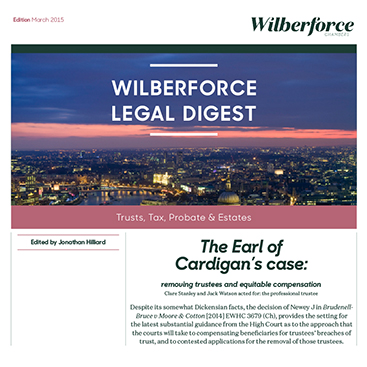 Photo of Legal Digest (Issue 1) Trust, Tax, Probate and Estates