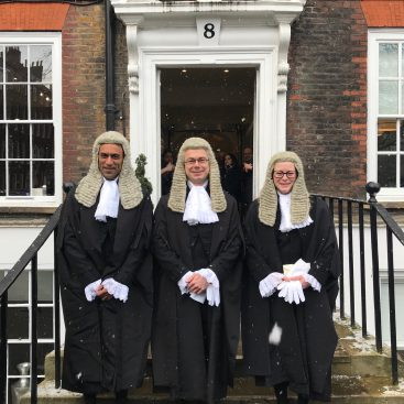 Photo of New silks: Julian Greenhill QC, Tiffany Scott QC and Nikki Singla QC