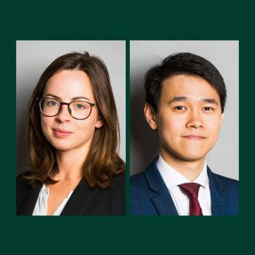 Photo of New tenants: Cara Goldthorpe and Jia Wei Lee