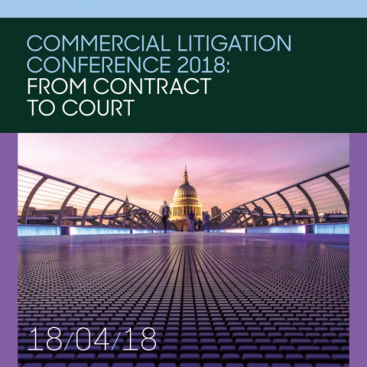 Photo of Wilberforce Commercial Litigation Conference 2018: From contract to court