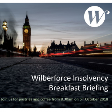 Photo of Insolvency Breakfast Briefing (repeated event due to popular demand)