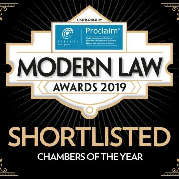Photo of Wilberforce nominated for Chambers of the Year at Modern Law Awards 2019