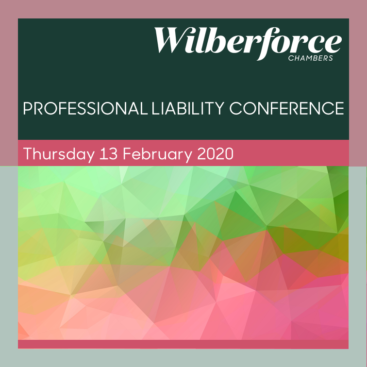 Photo of Wilberforce Professional Liability Conference 2020