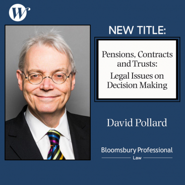 Photo of New Title: Pensions, Contracts and Trusts: Legal Issues on Decision Making by David Pollard
