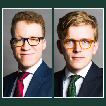 Photo of Lemuel Lucan-Wilson and Caspar Bartscherer join Wilberforce Chambers as tenants