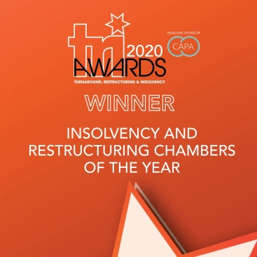 Photo of Insolvency & Restructuring Chambers of the Year at the TRI Awards
