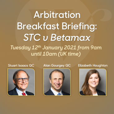 Photo of WATCH THE RECORDING: Arbitration Breakfast Briefing: STC v Betamax