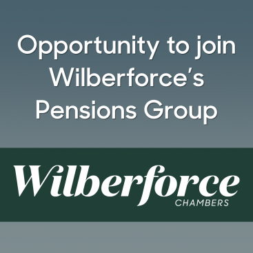 Photo of Opportunity to join Wilberforce's Pensions Group