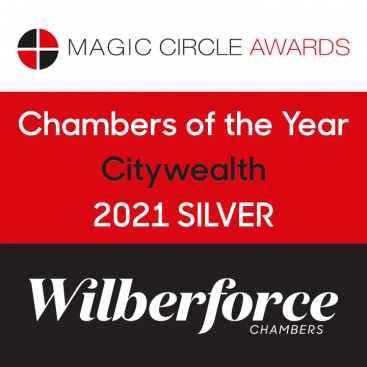 Photo of Wilberforce Win Silver in Chambers of the Year Category at Citywealth Magic Circle Awards