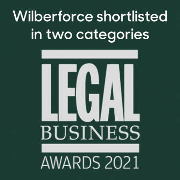Photo of Wilberforce Chambers shortlisted in two categories at the Legal Business Awards 2021