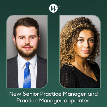 Photo of New Senior Practice Manager and Practice Manager appointed